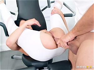 sport trainer smashes his greatest friend's chesty wifey Jaclyn Taylor during instructing