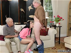 senior light-haired grannie and young couples outdoors Dukke the Philanthropist