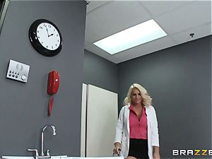 immense titted medic Sadie Swede ensures a fully working knob