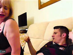 AgedLovE Mature obese Trisha and Sam xxx