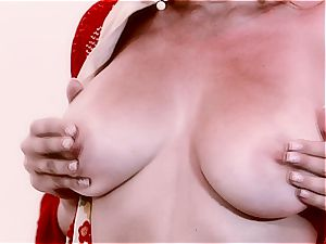 huge-titted rough geisha satisfies her needs