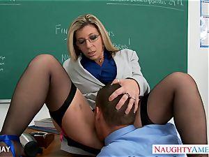 mummy teacher Sara Jay pulverize schoolgirl