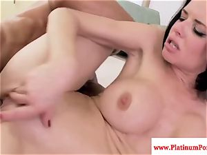 Veronica Avluv gargles and plumbs rock hard fuck-stick and loves it