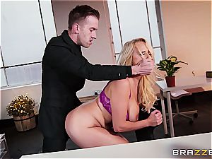 huge-boobed manager Wellie welcomes Danny D with anal invasion