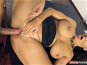 scorching office honey Ava Addams torn up deep in her snatch pie pudding