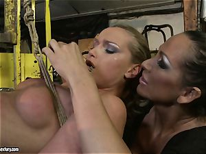 Kathia Nobili and Mandy Bright assets cording with string