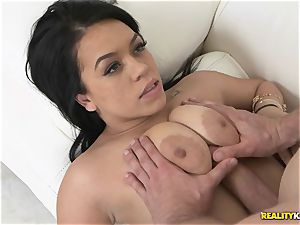 man sausage slips into the slit stop of Kimmy Kush
